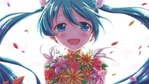 Rating: Safe Score: 19 Tags: aqua_eyes aqua_hair close flowers hatsune_miku long_hair tagme_(artist) twintails vocaloid User: luckyluna