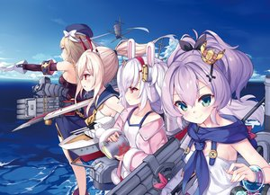 Rating: Safe Score: 44 Tags: animal_ears anthropomorphism ayanami_(azur_lane) azur_lane blonde_hair bunny_ears cropped green_eyes group hat javelin_(azur_lane) jpeg_artifacts kaede_(artist) laffey_(azur_lane) orange_eyes pink_hair ponytail red_eyes scan school_uniform short_hair sky twintails uniform water weapon white_hair z23_(azur_lane) User: Nepcoheart