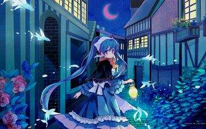 Rating: Safe Score: 67 Tags: dress flowers hara hatsune_miku mikumix moon night rose vocaloid User: anaraquelk2