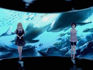 Rating: Safe Score: 33 Tags: 2girls animal fish katase_yuu original water User: Tensa