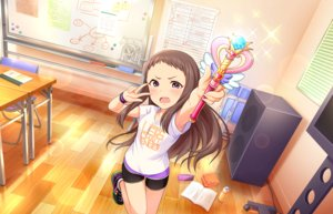 Rating: Safe Score: 29 Tags: annin_doufu bike_shorts blush book brown_hair drink fang idolmaster idolmaster_cinderella_girls idolmaster_cinderella_girls_starlight_stage long_hair purple_eyes shorts tagme_(character) wand wristwear User: luckyluna