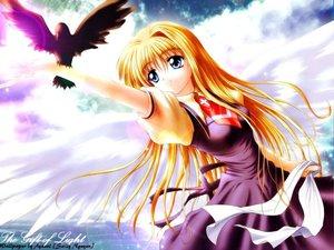 Rating: Safe Score: 6 Tags: air animal bird kamio_misuzu r wings User: Oyashiro-sama