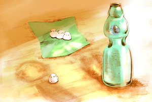 Rating: Safe Score: 30 Tags: animal bird chai_(artist) drink original sketch User: otaku_emmy