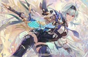 Rating: Safe Score: 83 Tags: csyday eula_(genshin_impact) genshin_impact gloves headband short_hair signed sword weapon User: BattlequeenYume