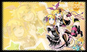 Rating: Safe Score: 24 Tags: boots chibi collar elbow_gloves gloves goth-loli horns kagamine_len kagamine_rin kitano_tomotoshi kneehighs lolita_fashion male pointed_ears tears vocaloid User: jjj14