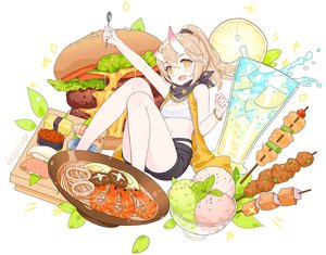 Rating: Safe Score: 41 Tags: brown_hair drink flat_chest fogriver food fruit honkai_impact ice_cream leaves necklace ponytail scarf shorts tagme_(character) watermark white wristwear yellow_eyes User: otaku_emmy