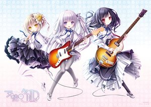 Rating: Safe Score: 54 Tags: bass black_hair blonde_hair flute gotou_jun gray_eyes gray_hair guitar instrument kaneshiro_sora loli lolita_fashion long_hair momijidani_nozomi pantyhose ponytail red_eyes ribbons short_hair tenshi_no_three_piece! tinkle yellow_eyes User: mattiasc02