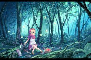 Rating: Safe Score: 52 Tags: blonde_hair blue_eyes bulleta butterfly capcom darkstalkers food forest gun hiro_(pixiv116462) knife scenic tree weapon User: SonicBlue