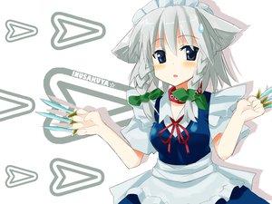 Rating: Safe Score: 19 Tags: animal_ears doggirl izayoi_sakuya maid touhou weapon User: Oyashiro-sama
