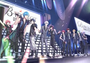 Rating: Safe Score: 3 Tags: aliasing all_male althea_(sakiya0000) aqua_eyes aqua_hair bicolored_eyes black_hair blonde_hair boots bow b-project brown_hair collar cross glasses gloves green_eyes green_hair group male microphone necklace pink_hair purple_hair red_eyes red_hair short_hair tagme_(character) white_hair wink wristwear User: RyuZU