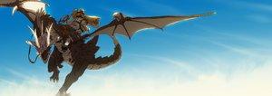 Rating: Safe Score: 105 Tags: dragon dualscreen goggles hatsuga_(dmaigmai) original sky User: FormX