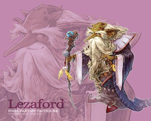 Rating: Safe Score: 0 Tags: final_fantasy final_fantasy_tactics_a2 lezaford mage pink pointed_ears staff white_hair zoom_layer User: Oyashiro-sama