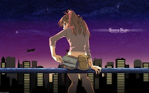 Rating: Safe Score: 64 Tags: aircraft blue_eyes building city clouds long_hair neon_genesis_evangelion sky soryu_asuka_langley vector watermark User: RyuZU