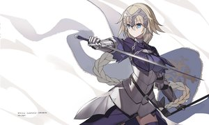 Rating: Safe Score: 66 Tags: aqua_eyes armor blonde_hair braids dress elbow_gloves fate/apocrypha fate_(series) gloves jeanne_d'arc_(fate) long_hair ponytail shi-chen signed User: RyuZU