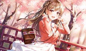 Rating: Safe Score: 87 Tags: aqua_eyes braids brown_hair cherry_blossoms connie_(keean2019) flowers long_hair original skirt spring tree waifu2x User: BattlequeenYume