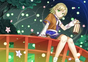 Rating: Safe Score: 38 Tags: blonde_hair green_eyes mameda11 mizuhashi_parsee pointed_ears short_hair socks touhou tree User: RyuZU