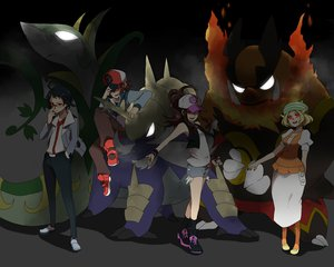 Rating: Safe Score: 103 Tags: bel_(pokemon) cheren emboar pokemon samurott sei_(shinkai_parallel) serperior touko_(pokemon) touya User: FormX