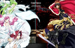 Rating: Safe Score: 75 Tags: armor blonde_hair blue_eyes brown_hair cc code_geass crown dress euphemia_li_britannia green_eyes green_hair kallen_stadtfeld kururugi_suzaku lelouch_lamperouge pink_hair red_hair sword tagme vv weapon User: w7382001