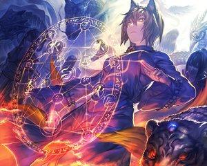 Rating: Safe Score: 192 Tags: animal animal_ears ant_of_spirit dragon foxgirl magic tail tiger touhou yakumo_ran User: FormX