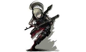 Rating: Safe Score: 196 Tags: armor blonde_hair boots hellshock long_hair original ponytail suzumi_(hellshock) tattoo weapon User: TommyGunn