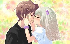 Rating: Safe Score: 35 Tags: flyable_heart game_cg itou_noiji kiss yellow_eyes yukishiro_suzuno User: smootch