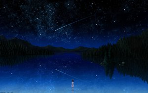 Rating: Safe Score: 194 Tags: darker_than_black night pai scenic signed sky stars tree water User: Eruku