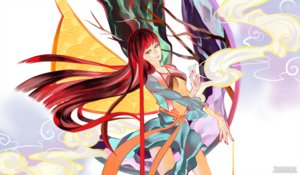 Rating: Safe Score: 35 Tags: akizuki_maria blue_eyes long_hair red_hair ribbons sakonma shin_sekai_yori User: C4R10Z123GT