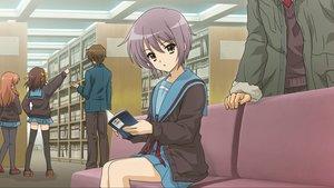 Rating: Safe Score: 41 Tags: asahina_mikuru book bow brown_eyes brown_hair game_cg group koizumi_itsuki kyon long_hair male nagato_yuki orange_hair pantyhose purple_hair ribbons school_uniform short_hair suzumiya_haruhi suzumiya_haruhi_no_tsuisou suzumiya_haruhi_no_yuutsu thighhighs tie User: SciFi