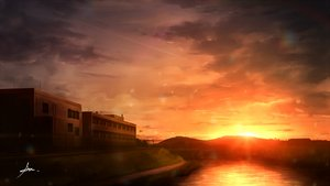 Rating: Safe Score: 27 Tags: alpcmas building clouds nobody original scenic sky sunset water User: otaku_emmy