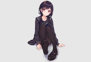 Rating: Safe Score: 25 Tags: blush gray long_hair original pantyhose purple_eyes purple_hair rimo school_uniform skirt twintails User: otaku_emmy
