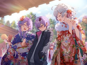 Rating: Safe Score: 51 Tags: animal_ears braids brown_hair gray_hair group hoodie japanese_clothes kimono kizuna_akari male minase_kou mousegirl original phone purple_eyes purple_hair shirinda_fureiru short_hair shrine touhoku_kiritan twins twintails vocaloid voiceroid yuzuki_yukari yuzuki_yukari's_younger_twin_brother User: sadodere-chan
