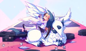 Rating: Safe Score: 100 Tags: absol bicolored_eyes feathers game_console hyanna-natsu original pokemon User: mattiasc02