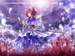 Rating: Safe Score: 67 Tags: dabadhi dress flowers onozuka_komachi petals scythe touhou weapon User: opai