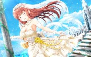 Rating: Safe Score: 51 Tags: amatsu_kanata girlfriend_(kari) masa_(mirage77) signed wedding_attire User: luckyluna