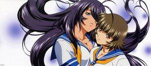 Rating: Safe Score: 14 Tags: 2girls breasts chouhi_ekitoku cleavage ikkitousen kanu_unchou white User: Oyashiro-sama