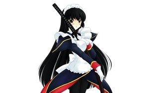 Rating: Safe Score: 14 Tags: black_hair hanaukyo_maid_tai katana long_hair maid sword tsurugi_konoe weapon User: Oyashiro-sama