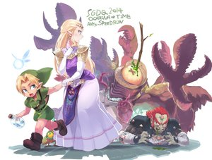 Rating: Safe Score: 17 Tags: aqua_eyes ario armor blonde_hair boots dress fairy ganondorf hat link_(zelda) long_hair male navi pointed_ears princess_zelda red_hair signed the_legend_of_zelda User: otaku_emmy