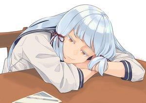 Rating: Safe Score: 29 Tags: anthropomorphism gray_hair kantai_collection long_hair murakumo_(kancolle) orange_eyes seifuku signed ueno_(sakumogu-029) User: otaku_emmy