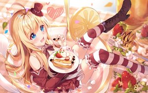Rating: Safe Score: 51 Tags: aqua_eyes blonde_hair boots chocolat_(noukome) lolita_fashion long_hair nahaki ore_no_nounai_sentakushi_ga_gakuen_love-comedy_wo_zenryoku_de_jama_shiteru sketch thighhighs User: Fepple