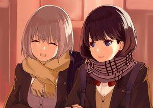 Rating: Safe Score: 58 Tags: 2girls black_hair blue_eyes mizuki_ame purple_hair scarf school_uniform shinjou_akane short_hair ssss.gridman takarada_rikka User: RyuZU