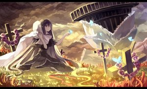 Rating: Safe Score: 107 Tags: akemi_homura butterfly clouds cross dress flowers gothic grass headband homulilly jpeg_artifacts long_hair mahou_shoujo_madoka_magica rain_(raindsan) walpurgis_no_yoru User: Flandre93