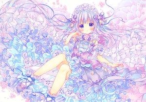 Rating: Safe Score: 42 Tags: blush dress flowers lolita_fashion long_hair original polychromatic purple_eyes purple_hair puu_(kari---ume) User: BattlequeenYume