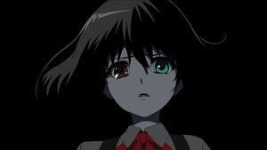 Rating: Safe Score: 86 Tags: another bicolored_eyes black_hair dark misaki_mei short_hair User: animism