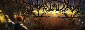 Rating: Safe Score: 82 Tags: city dualscreen hatsuga_(dmaigmai) original scenic sunset User: FormX