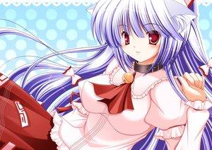 Rating: Safe Score: 27 Tags: animal_ears blush fujiwara_no_mokou hiyori-o long_hair purple_hair red_eyes ribbons touhou User: Tensa