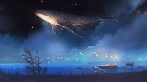 Rating: Safe Score: 105 Tags: animal fish hanasei night nobody original scenic sky stars User: FormX