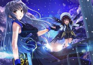 Rating: Safe Score: 144 Tags: long_hair mahou_shoujo_lyrical_nanoha reinforce tagme wings yagami_hayate yone User: opai