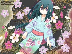 Rating: Safe Score: 39 Tags: green_hair japanese_clothes katanagatari long_hair purple_eyes yasuri_nanami yukata User: HawthorneKitty