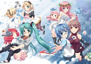 Rating: Safe Score: 25 Tags: animal aqua_eyes aqua_hair blonde_hair blue_hair blush breasts brown_eyes brown_hair bubbles dress elbow_gloves fish fujieda_kokage glasses gloves green_eyes group hatsune_miku headphones kagamine_len kagamine_rin kneehighs long_hair male megurine_luka meiko necklace pantyhose penguin pink_hair short_hair skirt thighhighs tie twintails vocaloid wink User: luckyluna