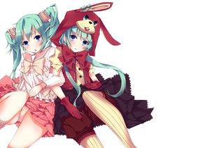 Rating: Safe Score: 164 Tags: animal_ears aqua_hair blue_eyes bunny_ears bunnygirl hatsune_miku lots_of_laugh_(vocaloid) natsuki_yuu panties underwear vocaloid User: FormX